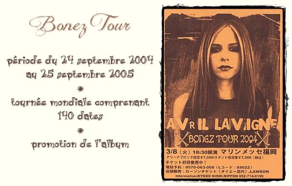 """Ses tournées # numéro 2 """"Bonez Tour"""""""