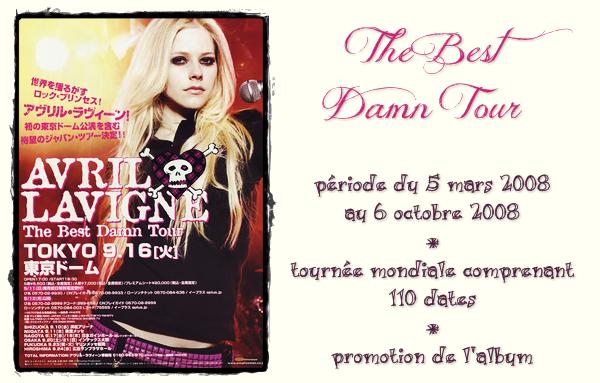 """Ses tournées # numéro 3 """"The Best Damn Tour"""""""