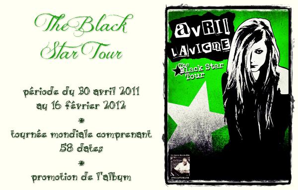 """Ses tournées # numéro 4 """"The Black Star Tour"""""""