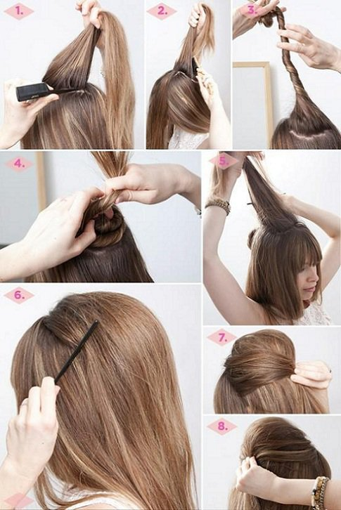 Idées de coiffure cheveux mi-longs ♥♥
