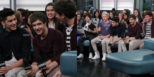 27 / 02 / 12 : Les One Direction étaient en interview pour une émission Canadienne, Much Music.