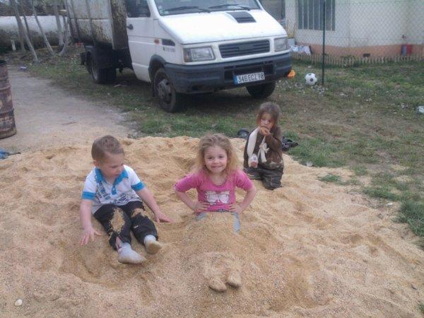 Mo, petit fils et mes deux petites filles