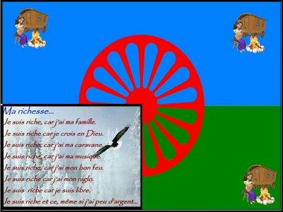 et oui méme les gitans ont leurs drapeau