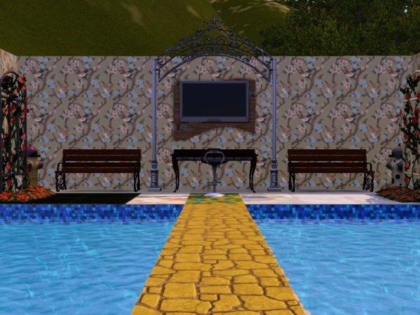 Le jardin intérieur grande première dans Secret Story Sims