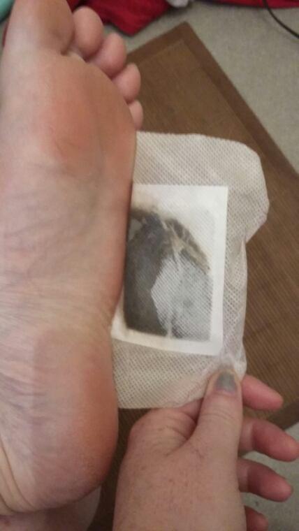 Patch detox pieds 2 ème jours