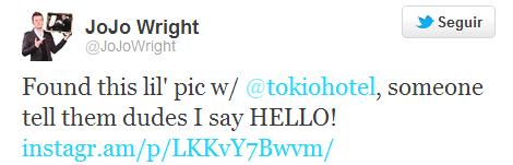 Twitter @JojoWright: L'auditeur de KIIS-FM publi une vieille photo avec Tokio Hotel