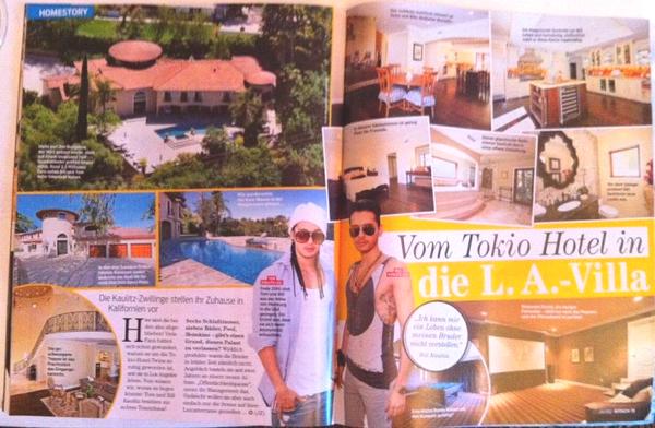 Avec Tokio Hotel dans leurs villa à L.A