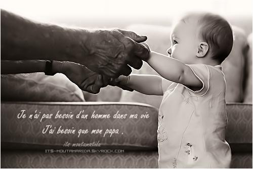 Je t'aime papa ❥