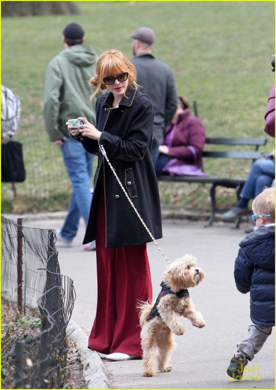 Bella Olivia et kingston se balandant a Central Park