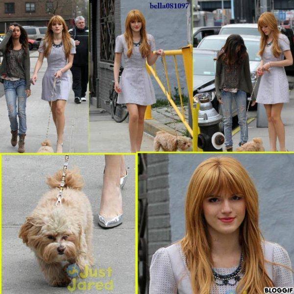 Bella , Olivia et Kingston se baladant dans les rues de NY