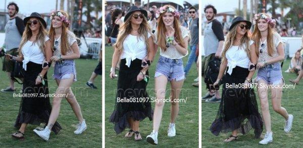 Bella au festival de Coachella le 12 avril 2013