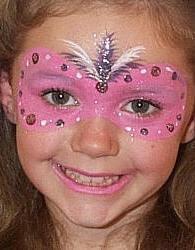 peinture sur  visage pour enfants