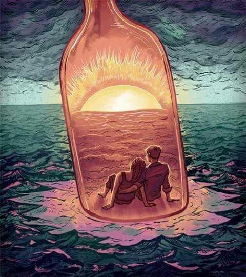 Une bouteille à la mer - lettre de Catherine