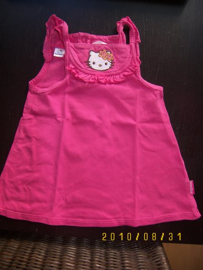 tunique ou robe hello kitty 12/18 mois