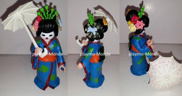 geisha (pour un petit diorama que la bibliothèque de béville le comte nous a demandé sur le thème du japon ) pour mercredi 4 mai 2016.