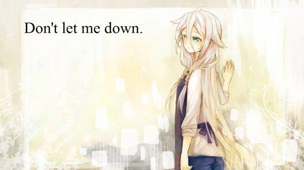 Chapitre 8 : Don't let me down.