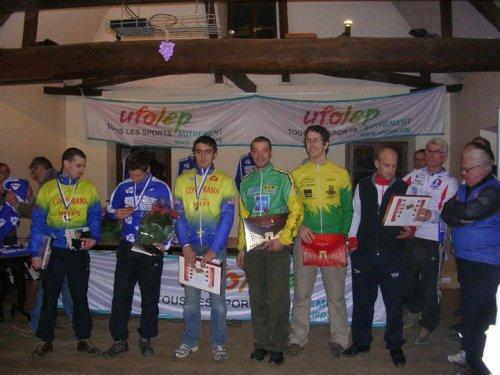 Cyril sur le podium des championnats départementaux de cyclo-cross !