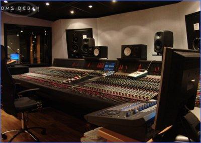 un studio d'enregistrement