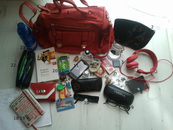Qu'est-ce qu'il y a dans mon sac?