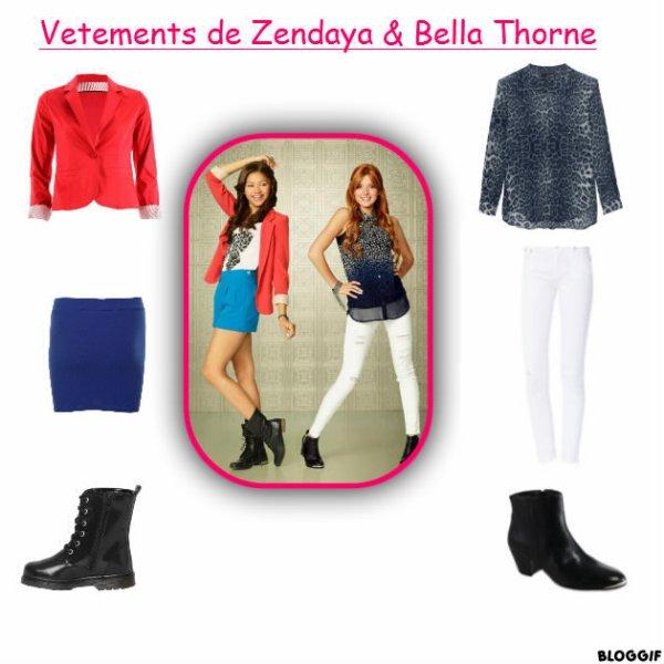 Fringues De Bella Thorne &  Zendaya