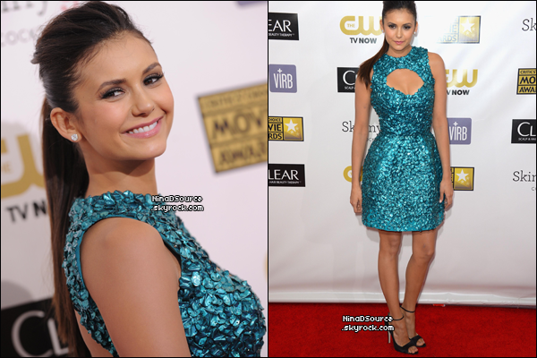 Nina était présente au « Annual Critics' Choice Movie Awards » du 10 au 18 Janvier 2013. J'adore sa coiffure et son make up!  -----Vos avis?