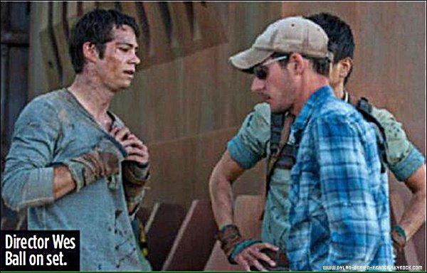The Maze Runner | Autre photo du tournage avec Dylan du premier volet de L'Epreuve en 2014.