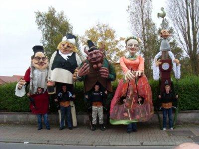 La Famille Cambrinus de Fresnes sur Escaut au Carnaval de Montigny en Ostrevant.