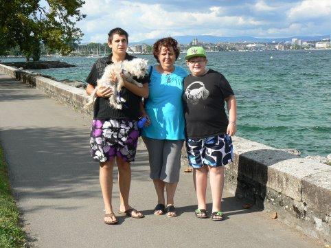 mes fils et moi en suisse