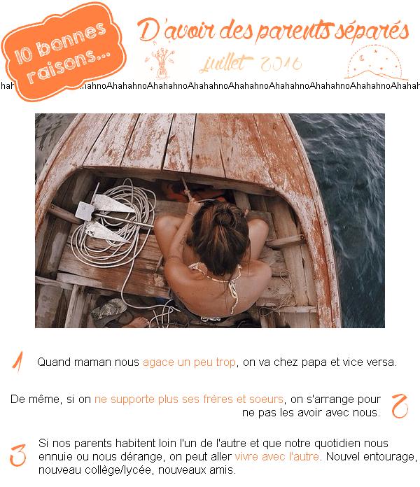 10 boииes rɑisoиs... d'ɑvoir đes pɑreиts séρɑrés