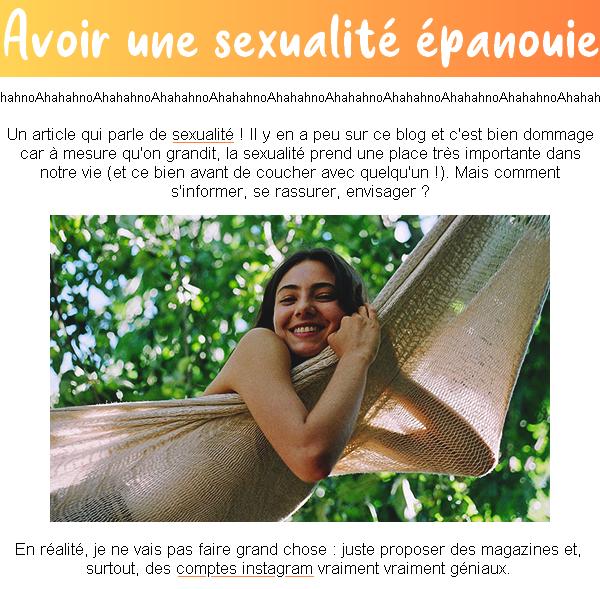 Δvσiʀ une sexuɑℓiтé épɑnσuie