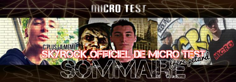 SOMMAIRE DU BLOG OFFICIEL DE MICRO TEST