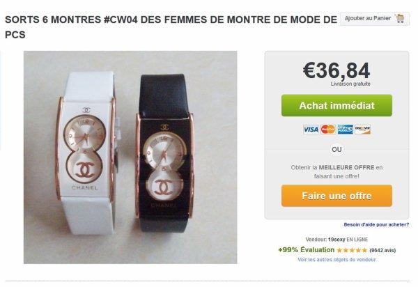 Divers fausses montres de marques que vous allez rencontrer sur les annonces