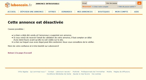 Attention sur Leboncoin  On change de nom et on continue .!e 12/07/14  Electronique-discount.fr