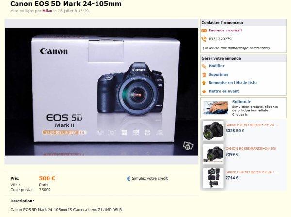 Les arnaques sur les appareils photos continuent sur LeBonCoin