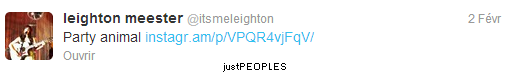 Des tweets de Leighton :)