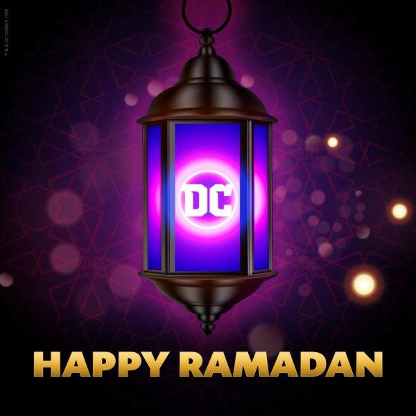 Dc comics qui souhaite un bon Ramadan sur twitter