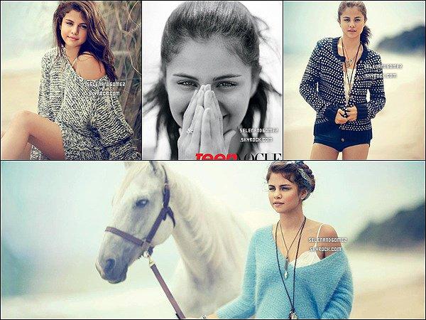 """Selena a fait la couverture de """"Teen Vogue"""". Tu aime ?"""