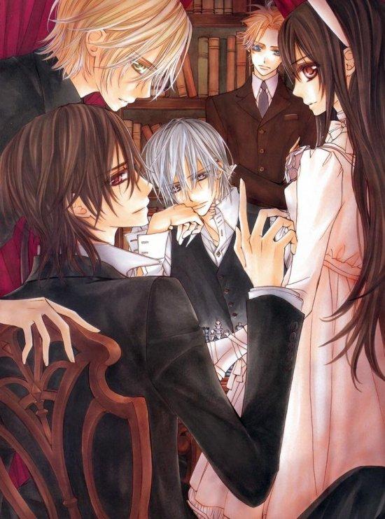 Images venant d'un artbook ou autres (Vampire Knight) :