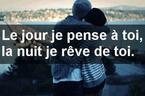 je pense (A) toi je rêve de toi (A)
