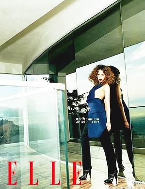 08.04.2014 - Les fans Chinois auront bien de la chance puisque Jessica fait la couverture de ELLE China.Le photoshoot à été réalisé par  Cliff Watts. C'est bien particulier et je ne suis pas vraiment fan de l'ambiance du shoot.