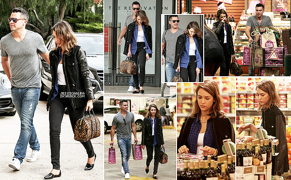 15.02.2014 - Jessica et  Cash ont été faire des courses à Whole Food puis du shopping à  Barney's New York.Jessica à l'air vraiment fatigué mais souriante.  Jessica et Cash ont été dîner en amoureux pour la soirée de la St Valentin.