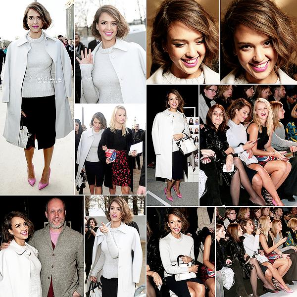 """27.02.2014 - Jessica et sa meilleure amie Kelly Sawyer  étaient au défilé Nina Ricci pendant la Paris Fashion Week.Jessica séjourne à l'hotel """"La réserve"""" situé au Trocadéro dans Paris.Un hôtel de luxe qui offre aux clients des appartements."""