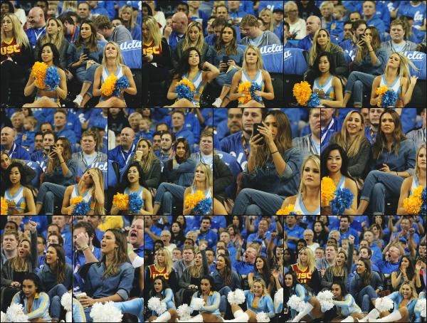- 18.02.17 ─ Jessica était présente ce soir là a un match de basket en compagnie d'une de ses amies à Los Angeles [/s#00000ize]Jess s'est accordée une soirée tranquille devant un match de basket avec son amie, sans sa petite famille. La tenue est sympa même si on voit pas trop.  -