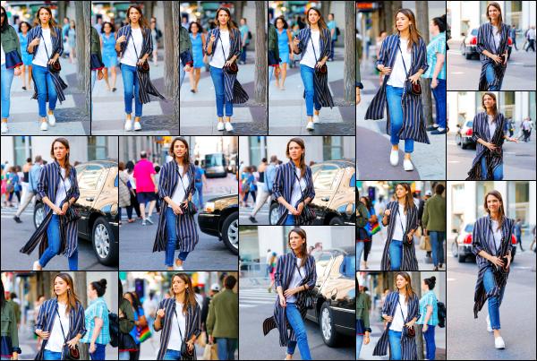 - 14.06.17 ─ Notre ravissante Jess' est photographiée, allant faire un peu de shopping dans les rues de New York ![/s#00000ize]Jessica allait rejoindre une amie a elle afin de faire un peu de shopping dans la grande ville qu'est New York. J'aime pas trop la tenue qu'elle porte, flop ! -