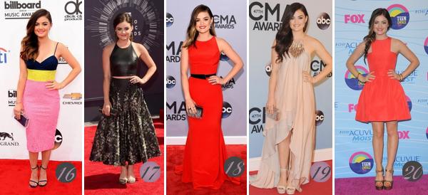 Lucy Hale's Look : Voici un nouvel article regroupant les plus beaux look de Lucy de 2019 à 2012. Quelle(s) tenue(s) préférez-vous ? Celle(s) que vous aimez le moins ? Aimez-vous Lucy ? Mes préférées : 1, 6 (♥), 7, 9, 14, 18 (♥), 19.