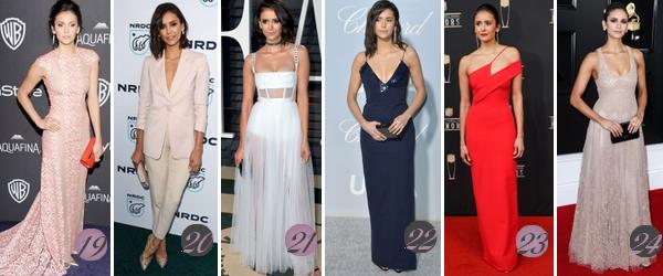 """Nina Dobrev's Look : Voici un nouvel article regroupant les plus belles tenues """"longues"""" de Nina de 2011 à 2019. Quelle(s) tenue(s) préférez-vous ? Celle(s) que vous aimez le moins ? Aimez-vous Nina ? Mes préférées : 1(♥), 5(♥), 8, 9, 11(♥), 15(♥), 16(♥), 18(♥), 20, 21, 22."""