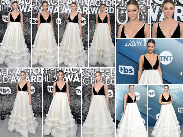 19 Janvier 2020 : Lili Reinhart s'est rendue à la 26ème édition des Screen Actors Guild Awards qui avait lieu au Shrine Auditorium, à Los Angeles. L'actrice de Riverdale était absolument magnifique, je suis complètement fan de la robe qu'elle portait, ainsi que de sa mise en beauté très réussie, TOP !
