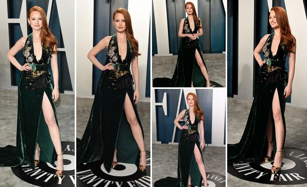 09 Février 2020 : Madelaine Petsch était présente à la soirée des Vanity Fair Oscar à  Beverly Hills. L'actrice de la série Riverdale était très belle, j'aime beaucoup la robe qu'elle portait lors de cet évènement. Sa mise en beauté est simple mais TOP.