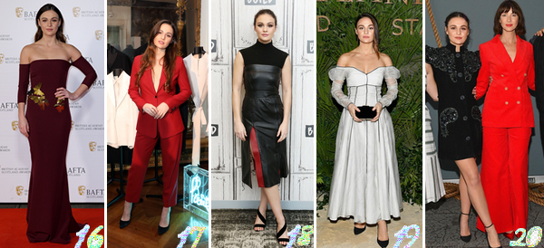 Sophie Skelton's Look : Voici un nouvel article regroupant cette fois-ci les sorties deSophie de 2020 (n°1) à 2017. Quelle(s) est/sont votre/vos tenue(s) préférée(s) ? Celle(s) que vous aimez le moins ? Aimez-vous cette actrice ?