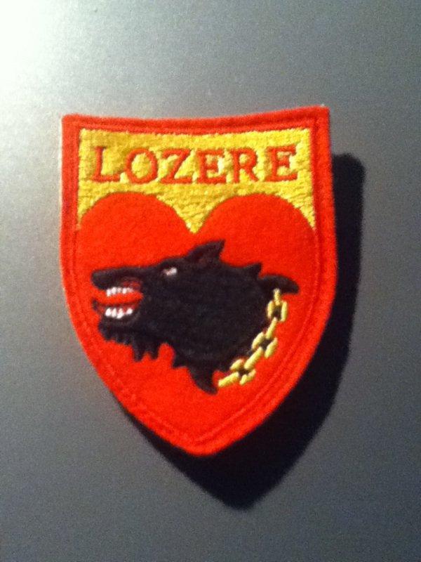 Voici l'écusson des sapeurs pompiers de Lozère